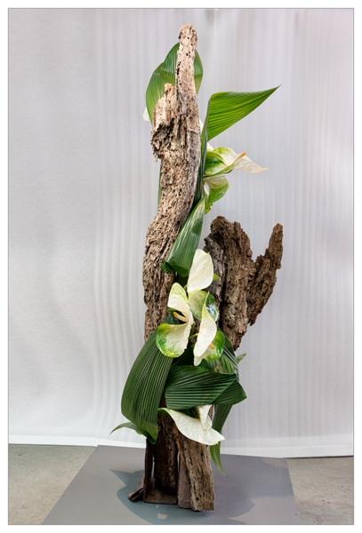 20130303 Internationale wedstrijd - Klasse 1b - plantaardige sculptuur 01