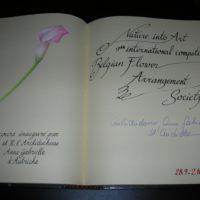 28/09/2005: Internationale Wedstrijd Bloemschikken te Meise