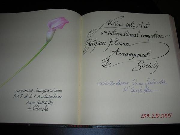 Livre d or du Jardin Botanique - Gulden boek van de Nationale Plantentuin